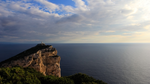 Lighthouse on the Capo Caccia.