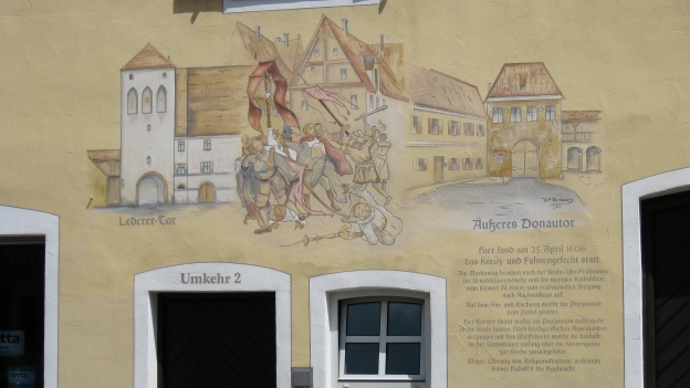 Mural in Donauwörth commemorating the Kreuz- und Fahnengefecht