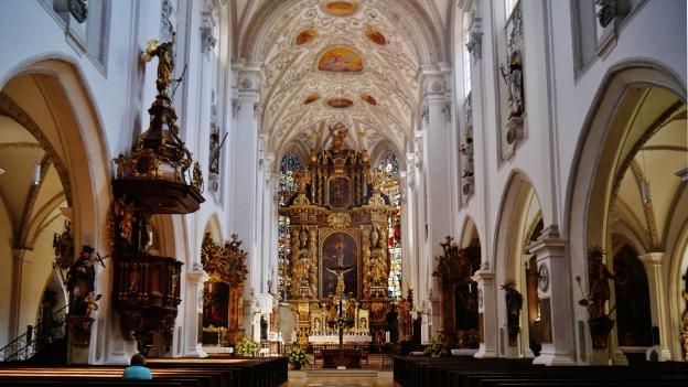 The Mariä Himmelfahrt church in Landsberg am Lech