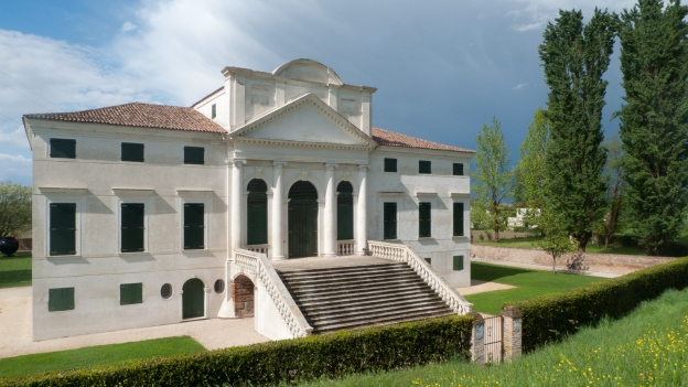The Villa Morosini on the north bank of the Po near Polesella (Veneto)