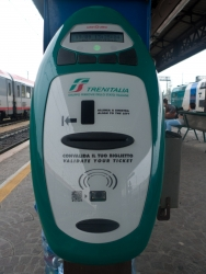 trenitalia ticket stamping machine