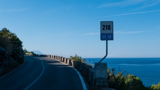 Campania: the coast road south of Sapri