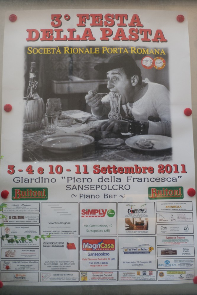 Poster for the Festa della pasta Sansepolcro (Toscana)