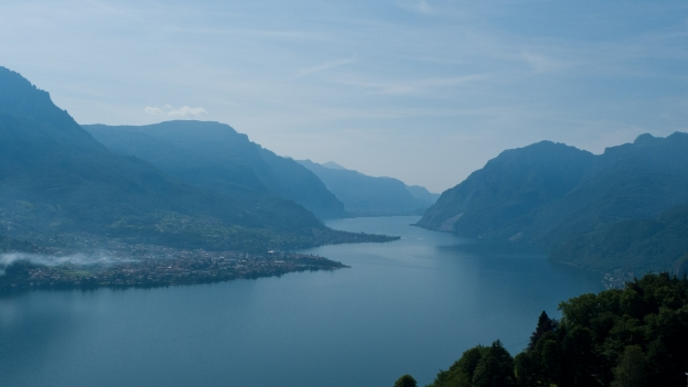 Lago di Como from the road to the Madonna di Ghisallo, near Bellaggio (Lombardia)
