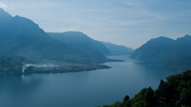 Lago di Como from the road to the Madonna di Ghisallo, near Bellagio (Lombardia)