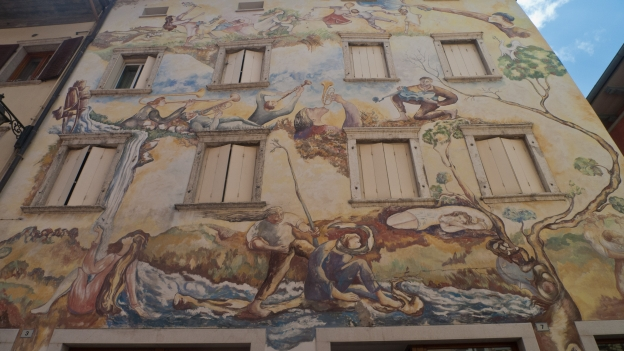 Decorated building facade - Lavis (Trentino)