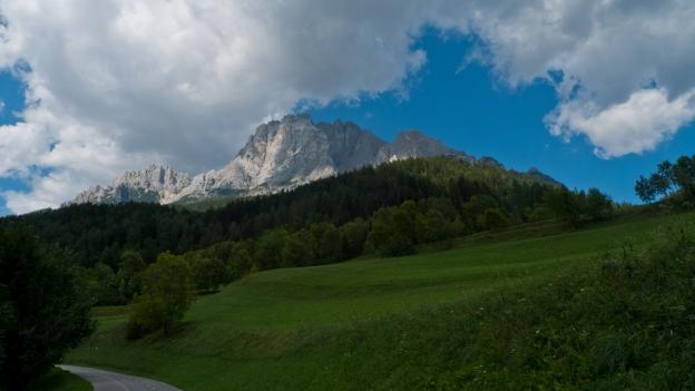 Ciclabile delle Dolomiti near Cortina d'Ampezzo (Veneto)