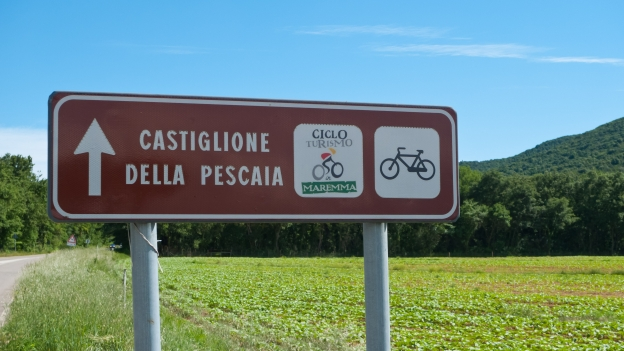 Sign on the Gran Tour della Maremma