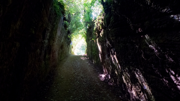 Etruscan via cava near Sorano