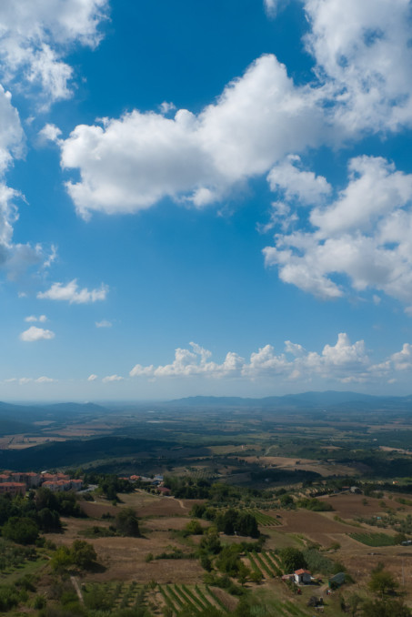 View from Roccastrada (Toscana)