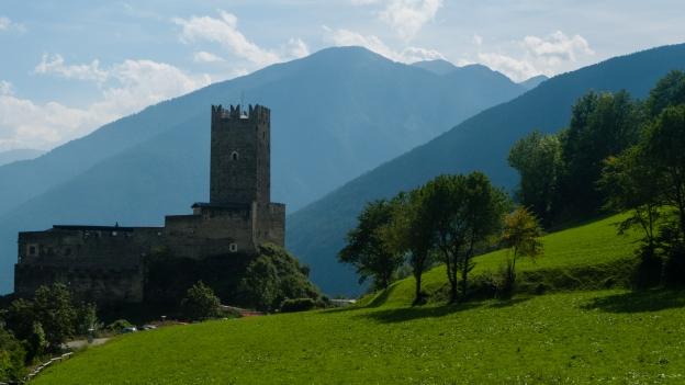 Castle on the Via Claudia Augusta near Mals