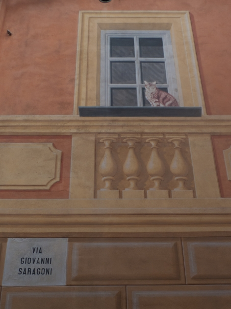 Frescoed building in Liguria