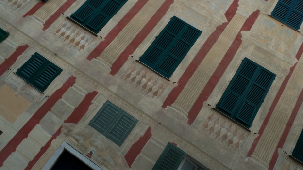 Frescoed buildings in Liguria