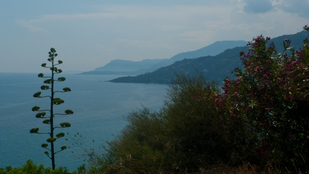 Liguria coastline near Ventimiglia