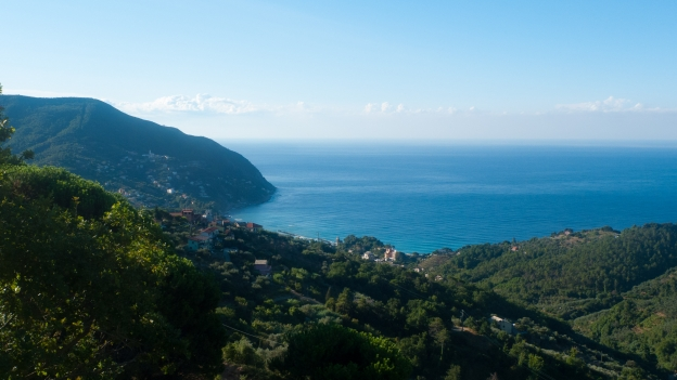 Liguria: view from the Via Aurelia