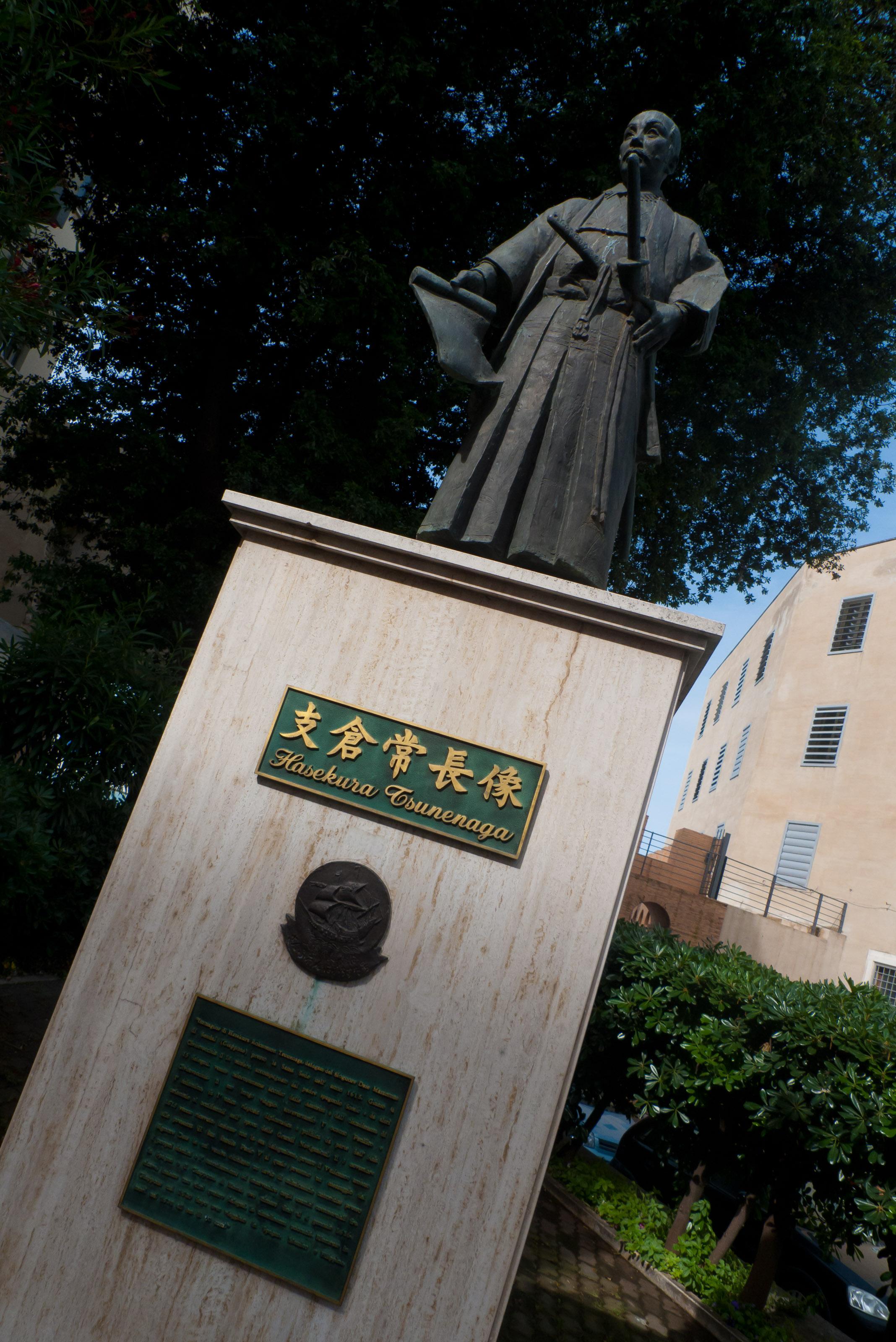 Civitavecchia - statue to Hasekura Tsunenaga