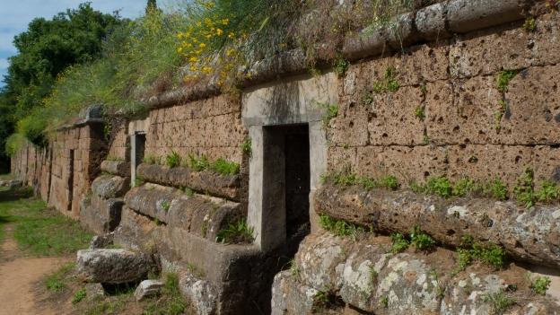 Estruscan tombs in the Banditaccia necropoli Etrusca (Cerveteri - Lazio)