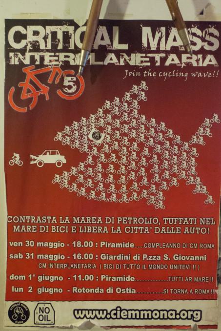 Critical Mass poster Rome