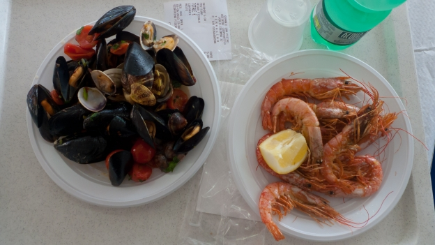 Lazio coast - lunch from a self-service cafe