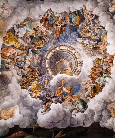 Giulio Romano: The Assembly of the Gods around Jupiter's Throne - Palazzo del Te, Mantova