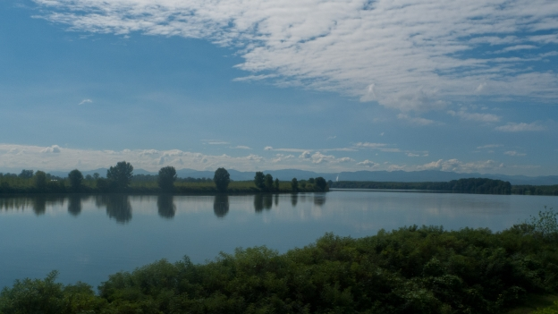 View of the river Po between Piacenza and Cremona