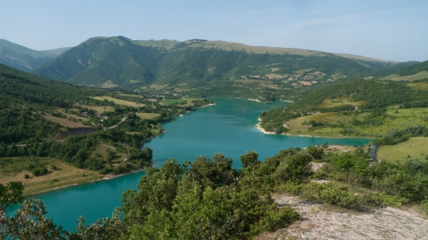 The Lago di Fiastra in the Monti Sibillini national park