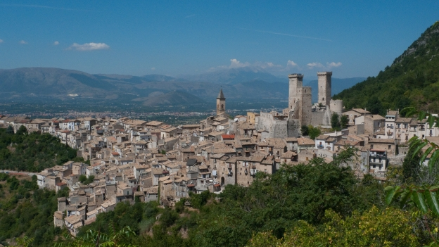 View over Pacentro near Sulmona (Abruzzo)