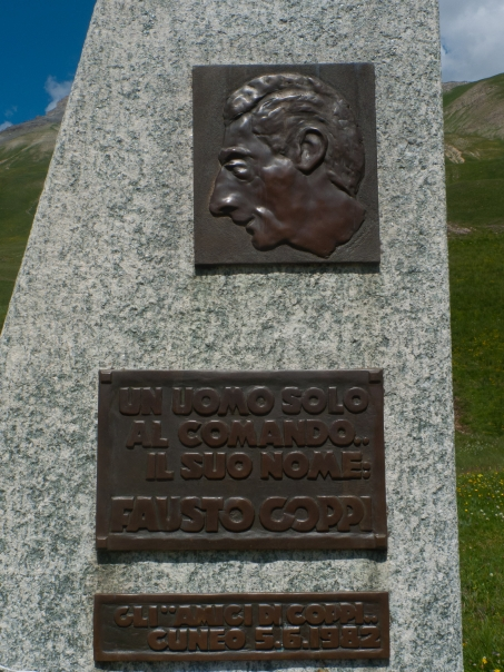 Memorial to Fausto Coppi on the Colle della Maddelena