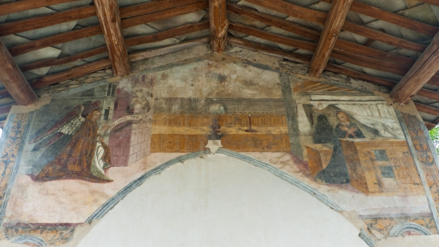 Fresco of the Annunciation - Capella di San Rocco (Brossasco)