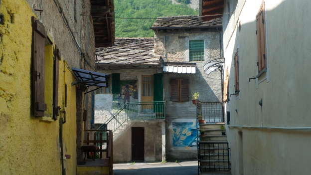 Castel del Bosco: murals