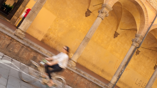 Cyclist in Bologna