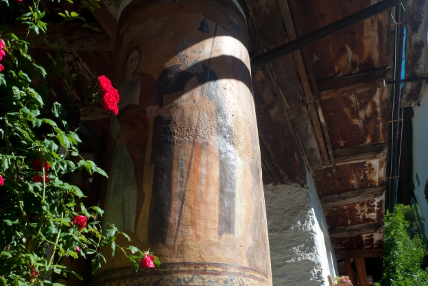 Decorated column from a house in Casteldelfino