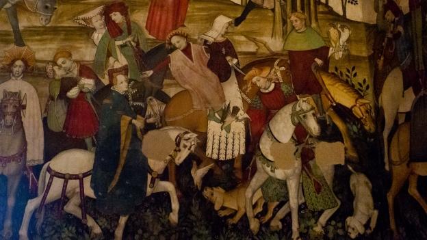 Castello della Manta: detail from the fontana della giovinezza fresco