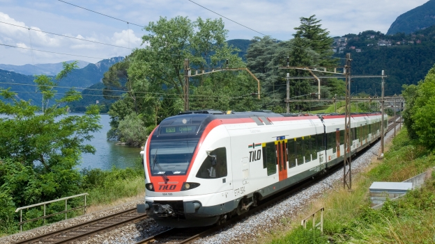 TILO train on the S10 line connecting the Swiss canton of Ticino with Lombardia.
