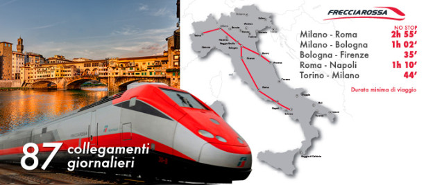 trenitalia.com: frecciarossa services and journey times