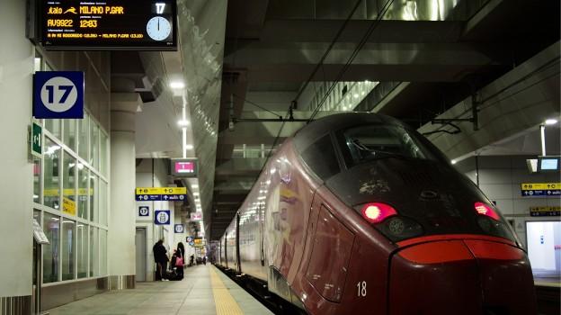 An Italo train in Bologna station