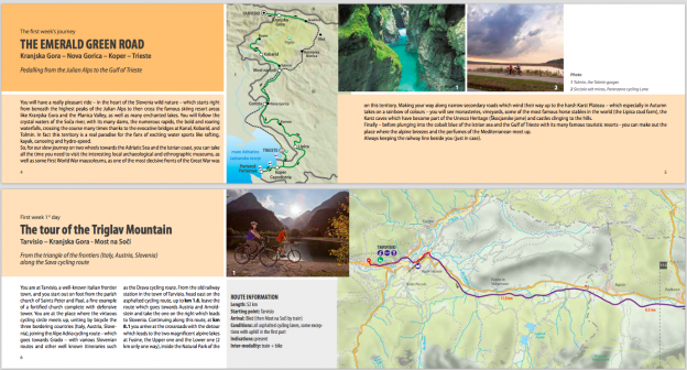 Pages from the Adria Bike roadbook