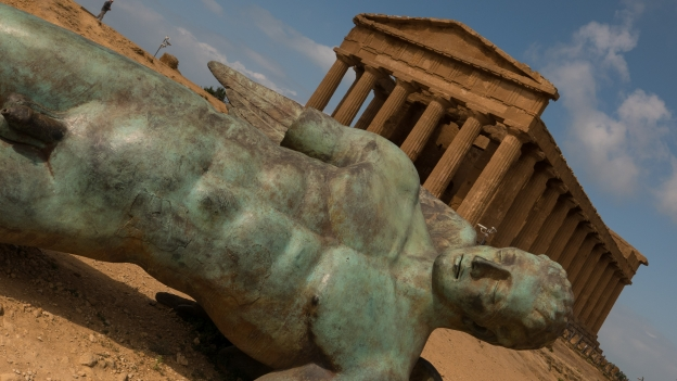 Agrigento - the fall of Icarus and Tempio di Concordia