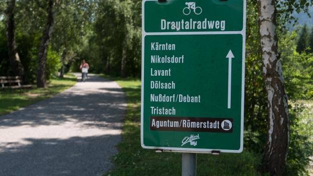 Sign on the Drauradweg