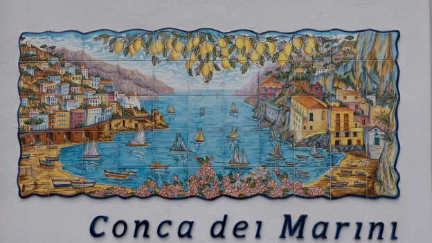 Ceramic wall mural - Conca dei Marini on the Amalfi coast
