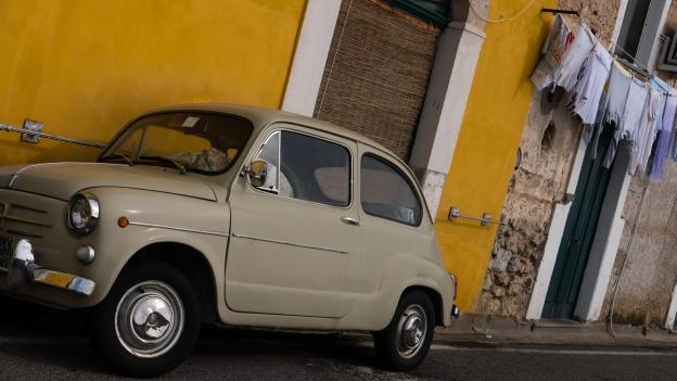 Fiat Cinquecento near Amalfi