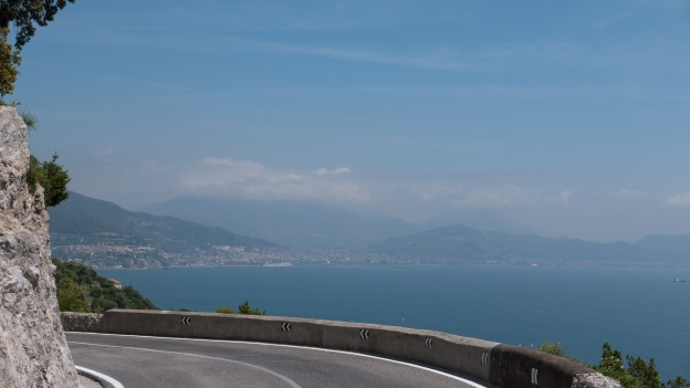 Coast road between Amalfi and Salerno - Salerno is in the distance