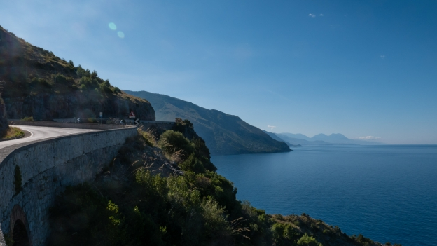 Basilicata coast on the SS18 heading for Maratea