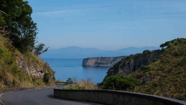 Calabria coast: the old coast road between Praia a Mare and San Nicolà Arcello
