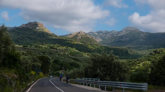 Cyclists near Cuglieri