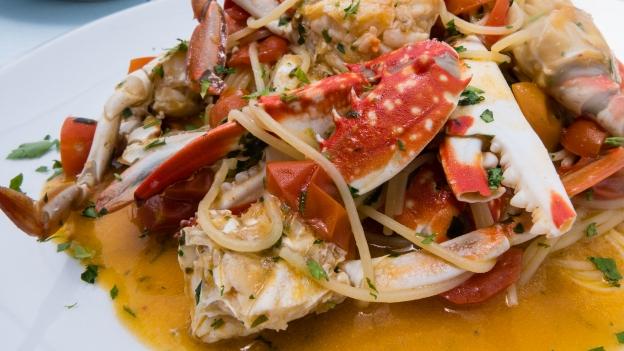 Spaghetti allo Granchio (Ristorante Stella del Mare Putzu Idu)