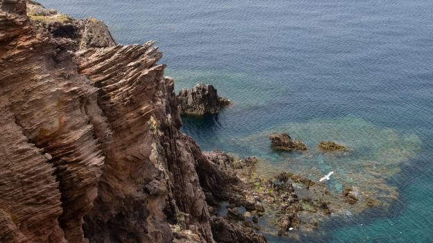Cliffs at the Capo Sandalo
