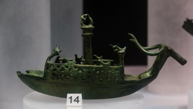 Bronze model of a boat from the Museo Archeologico Nazionale in Cagliari