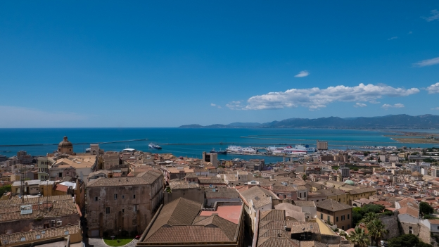 Cagliari skyline from the Torre di San Pancrazio