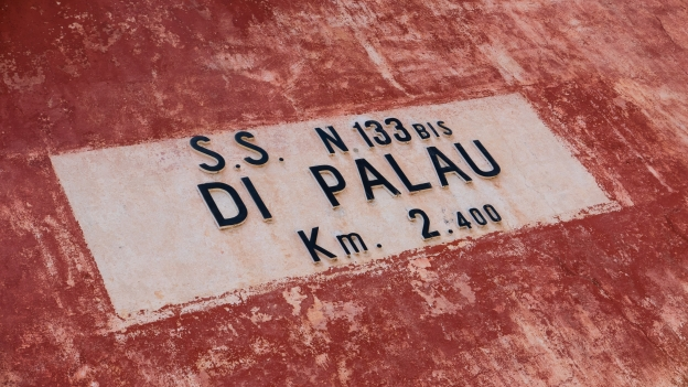 Sign on a casa cantoniera on the the SS133bis